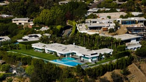 Real Estate Photography Services aerial view hillside mansion aerial photography los angeles