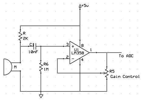 microphone prelifier circuit diagram ece476 high speed photography controller