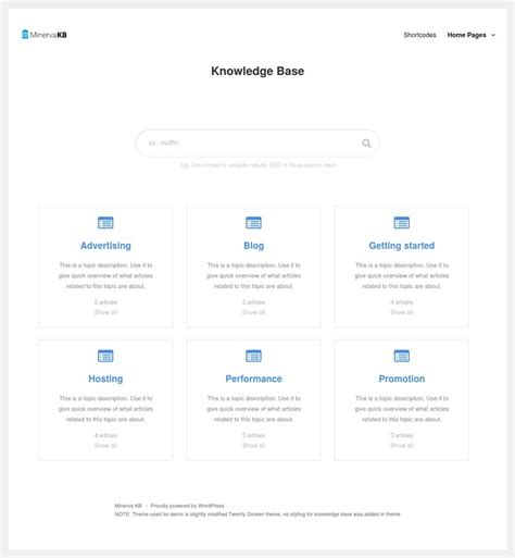 Minervakb V1 4 4 Knowledge Base For With Analytics best knowledge base plugin with live search and