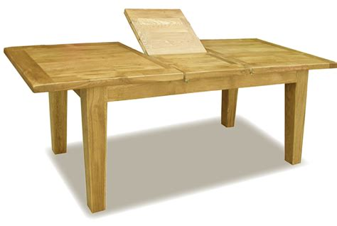 Oak Dining Suite Table Four Rectangle Brown Wooden Table With Folding Side On The Middle Plus Four Legs Of Creating
