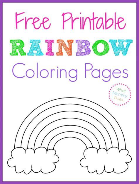 rainbow coloring page cutouts free printable rainbow coloring pages color sheets