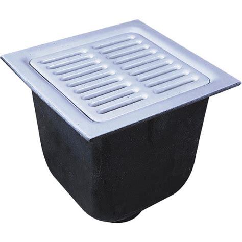 watts floor sink watts fs 754 22 12 quot x 12 quot x 10 quot floor 4 quot drain sink white