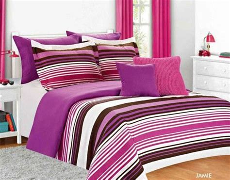 pink striped comforter girls bed set twin full purple pink striped girls bedding