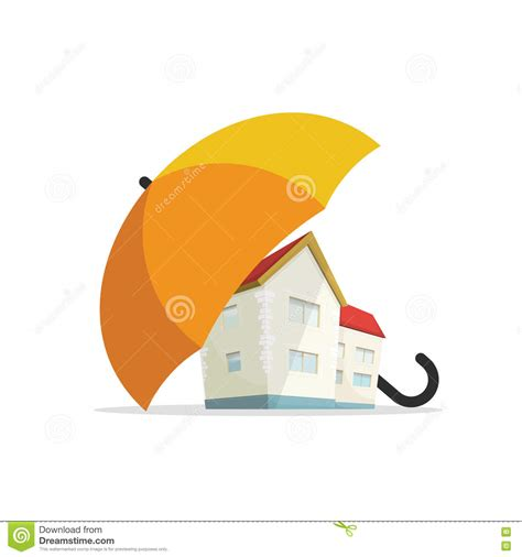 home protect house insurance house insurance concept home real estate protected under umbrella protection stock