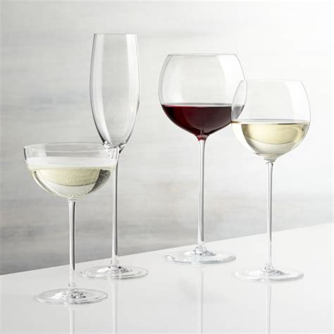 wine glasses camille wine glasses crate and barrel