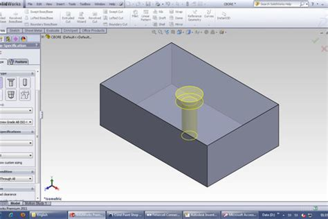 tutorial solidworks toolbox how to add m14 bolts solidworks toolbox grabcad
