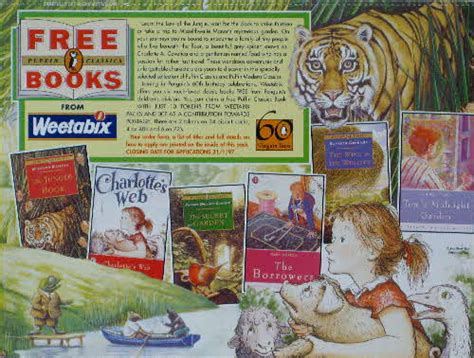 charlottes web a puffin 0141354828 1995 puffin books weetabix cereal send away offer inc the borrowers charlottes web the jungle book
