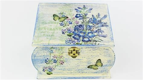 Decoupage With Tissue Paper On Wood - decoupage wooden box fast easy tutorial diy
