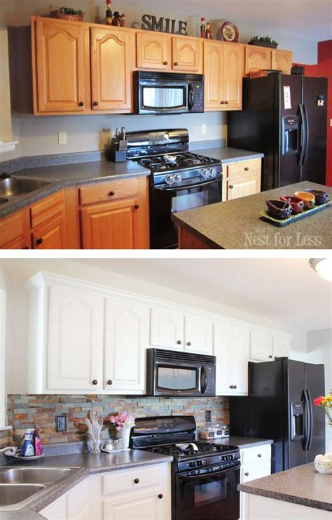Kitchen Makeovers With White Appliances Kitchen Cabinet Makeover Reveal Cabinets The And