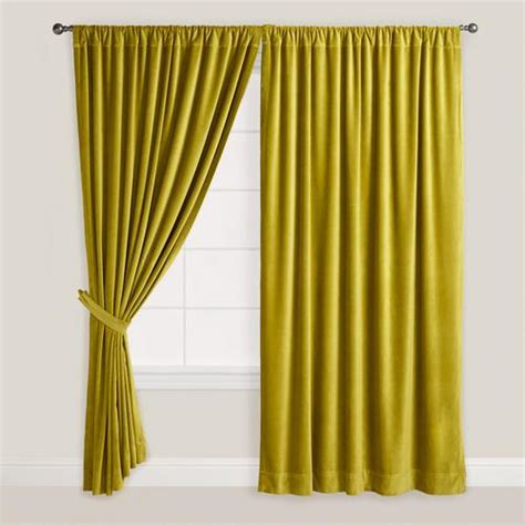 chartreuse velvet curtains green velvet oasis curtain world market