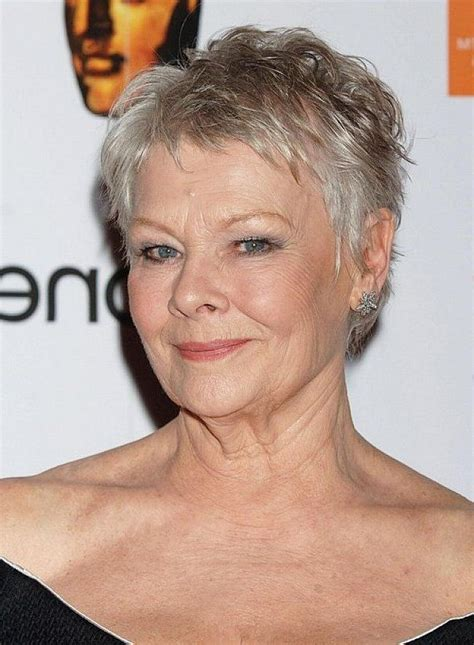 judy dench grey hairstyles 20 collection of judi dench pixie haircuts