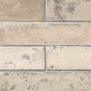 Brick Wallpaper   Light Textured Grey Grout Stone Wall Wallpaper