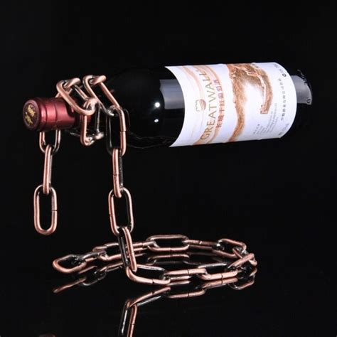 Creative Suspension Chain Wine Rack Rak Rantai Anggur creative suspension chain wine rack rak rantai anggur bronze jakartanotebook