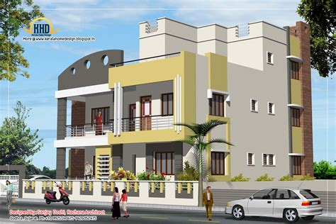 3 story house plan 3 story house plan and elevation 3521 sq ft kerala home design and floor plans