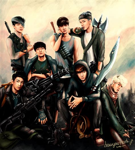 kpop theme hunter got7 art