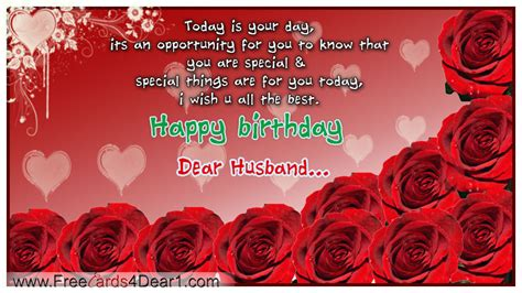Free Birthday Greeting Cards For Husband