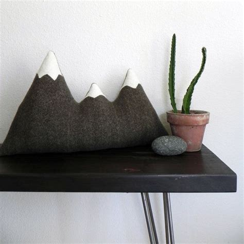 sisters brown wool mountain range pillow