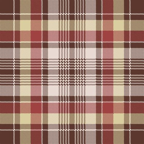 plaid pattern font red pixel fabric texture plaid seamless pattern vector