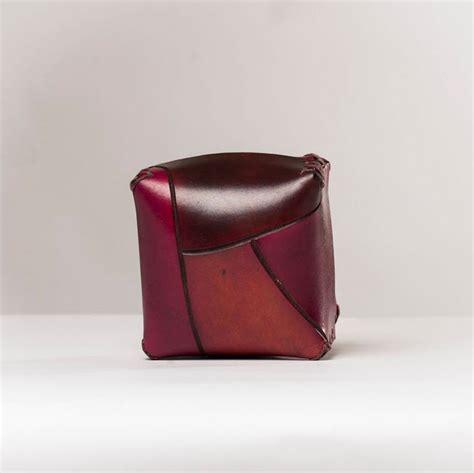Handcrafted Leather Products - small square leather box handmade leather accessories