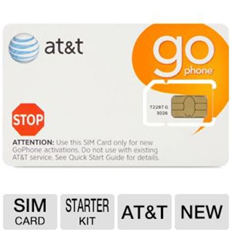 Sim Card Phone Number Lookup At T Gophone Sim Card Starter Kit Bring Your Own Phone