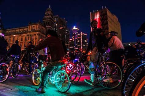 lights for bikes at night detroit night bike ride fun bikes lit up with led wheel
