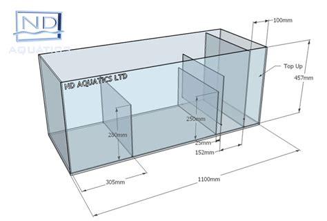 aquarium design standards sump tanks aquarium manufacturers nd aquatics ltd