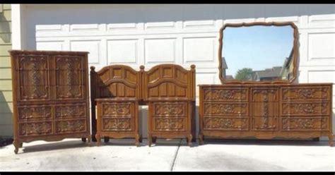 bassett queen size vintage bedroom set httpwwwkslcom