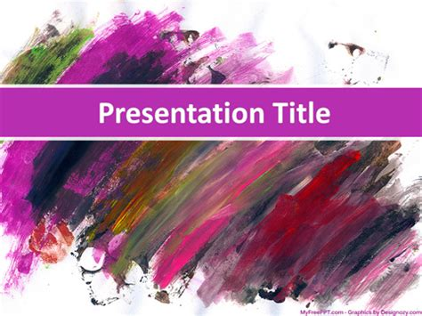 Free Painting Powerpoint Template Download Free Powerpoint Ppt Free Painting Template