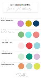 modern color palette 2017 5 color schemes for a girl nursery