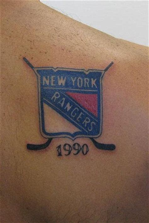 texas rangers tattoo metal mike tattoos new york rangers