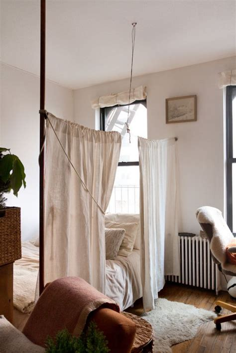 curtains for studio apartments 12 ways to create a bedroom in a studio apartment