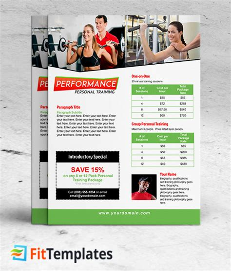 personal training flyer template gt gt 26 pretty training
