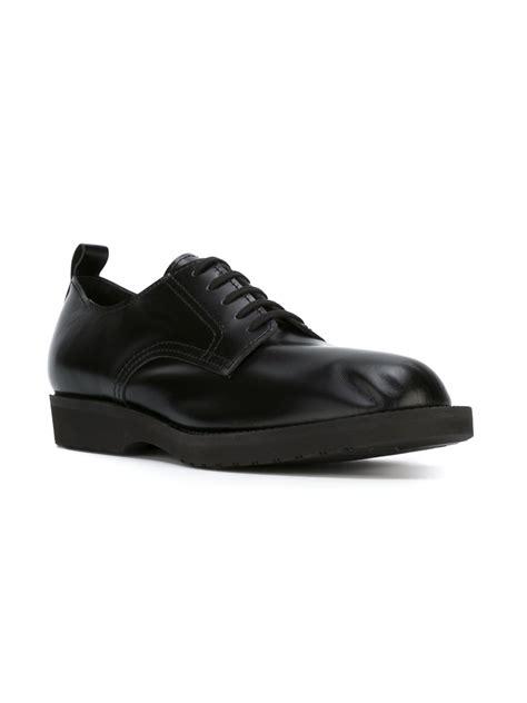 comme des garcons mens shoes comme des gar 231 ons leather derby shoes in black for lyst