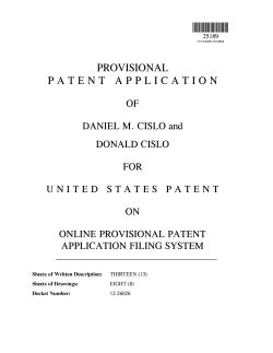 Provisional Patent Exle Bravebtr Provisional Patent Application Template