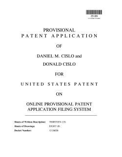 Provisional Patent Exle Bravebtr Provisional Patent Template