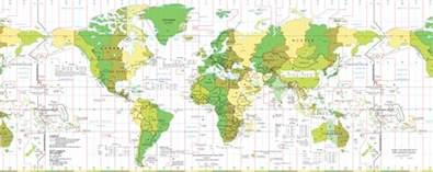carte du monde horaire my
