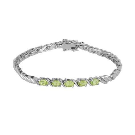 sterling silver genuine peridot bracelet walmart ca