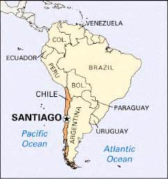 map of chile in south america of chile international programs