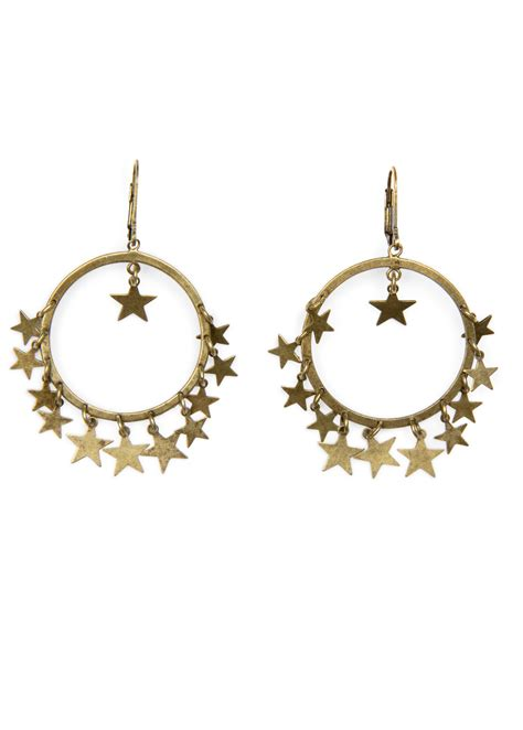 mango loop earrings in gold 94 lyst