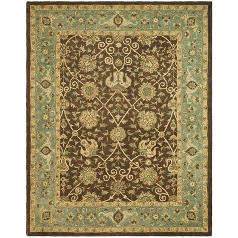 brown and green area rug safavieh antiquity brown green 7 ft 6 in x 9 ft 6 in