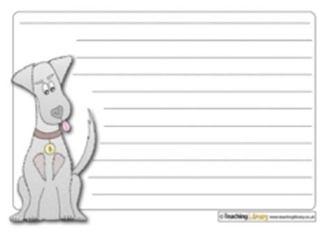 printable writing paper with dogs piper teaching ideas