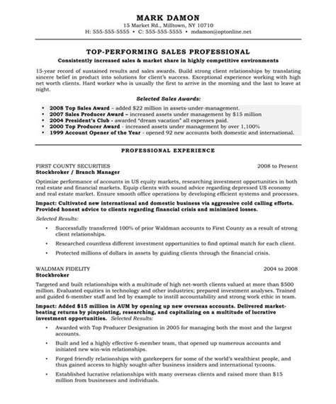 resume sles for marketing professionals 20 best images about marketing resume sles on