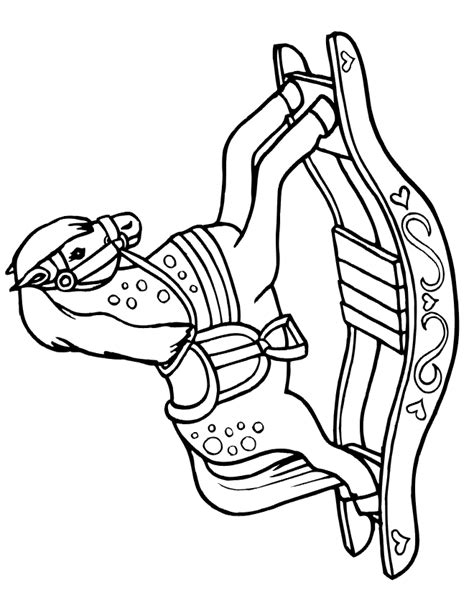 coloring pages of rocking horses free coloring pages
