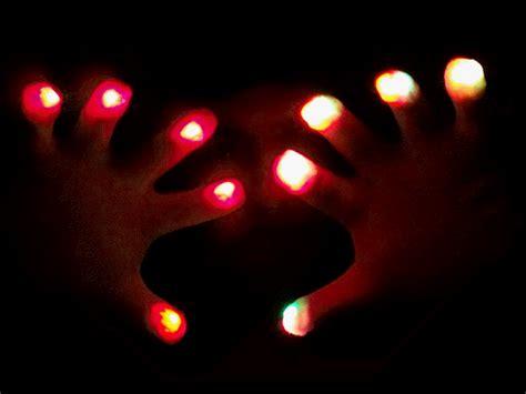 Light Show Gloves raver led light show pair of gloves multicolor