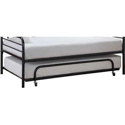 twin trundle bed frame black trundle guest kids bed metal frame twin size