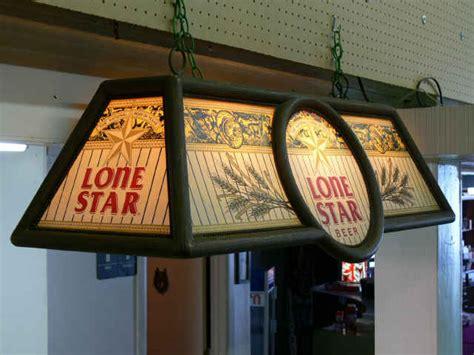 beer pool table lights lone star pool table hanging light vintage 1970s