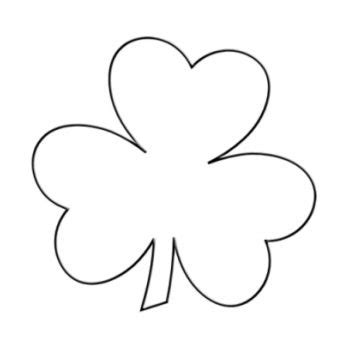 shamrock printable template templates shape and appliques on