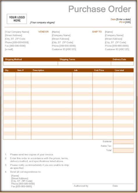 purchase order forms 9 download sle form templates