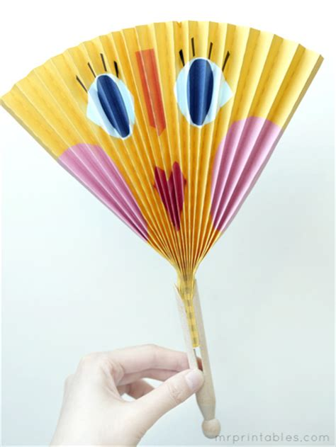 Make Paper Fan - work and process juli 2012