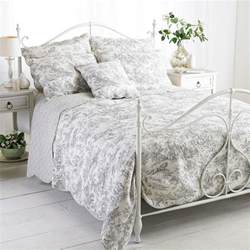 Quilted Coverlet Etoille Grey Double 240x260cm 100 Cotton Quilted